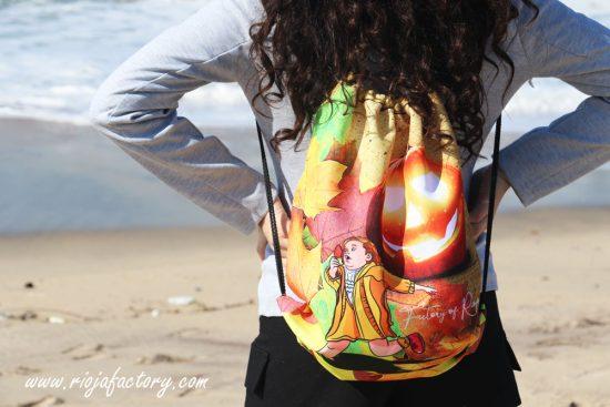 Ropa online, bolsos con cordones para mujer. Diseño con calabaza