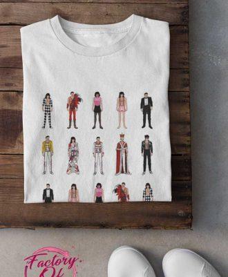 Camiseta blanca estilos Freddie Mercury