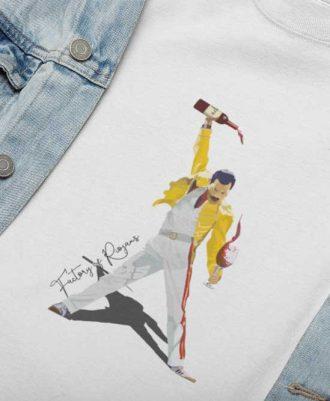 Camiseta blanca Freddie Mercury