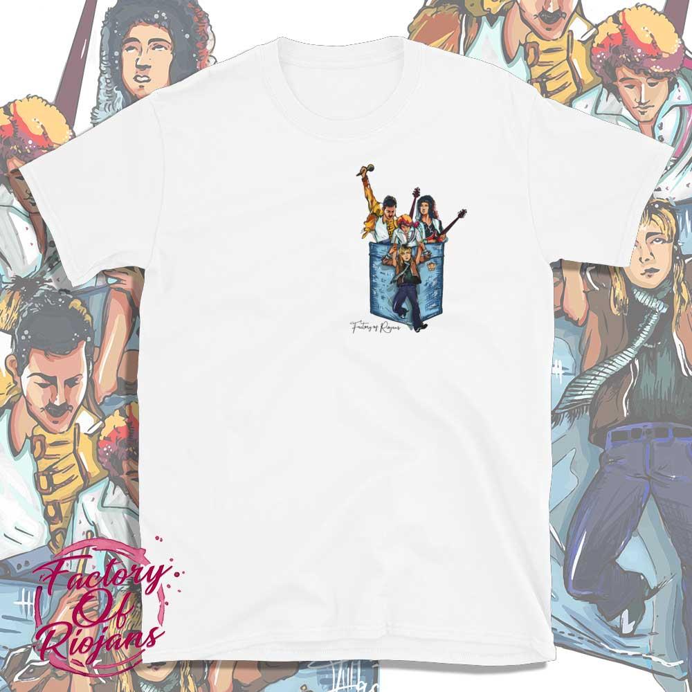Camiseta blanca del grupo Queen