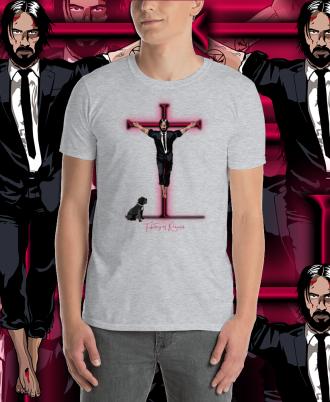 Camiseta Unisex Keanu Reeves color gris