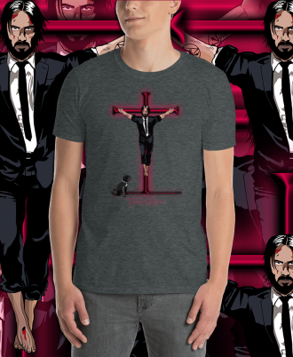 Camiseta Unisex Keanu Reeves color gris oscuro