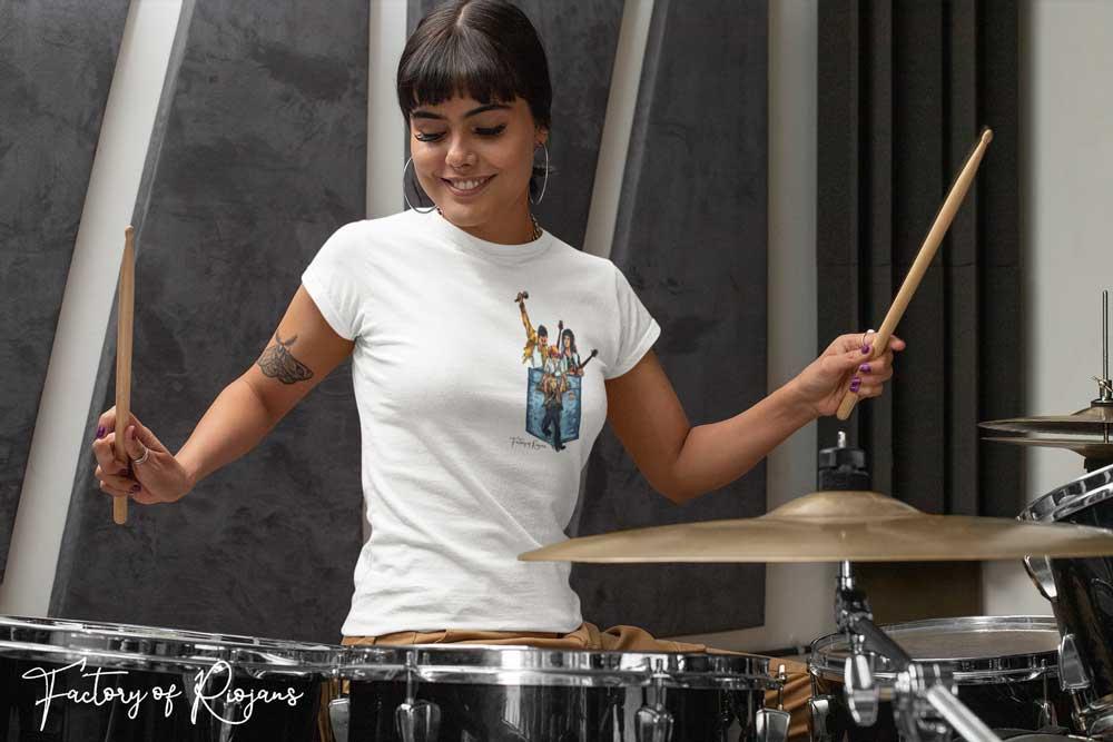 Camiseta en color blanco de Queen