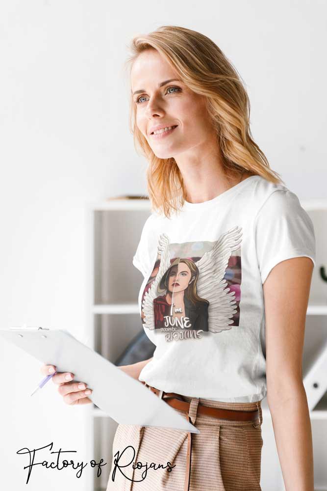 Camiseta mujer color blanco El cuento de la criada