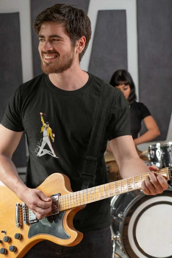Camiseta negra Freddie Mercury