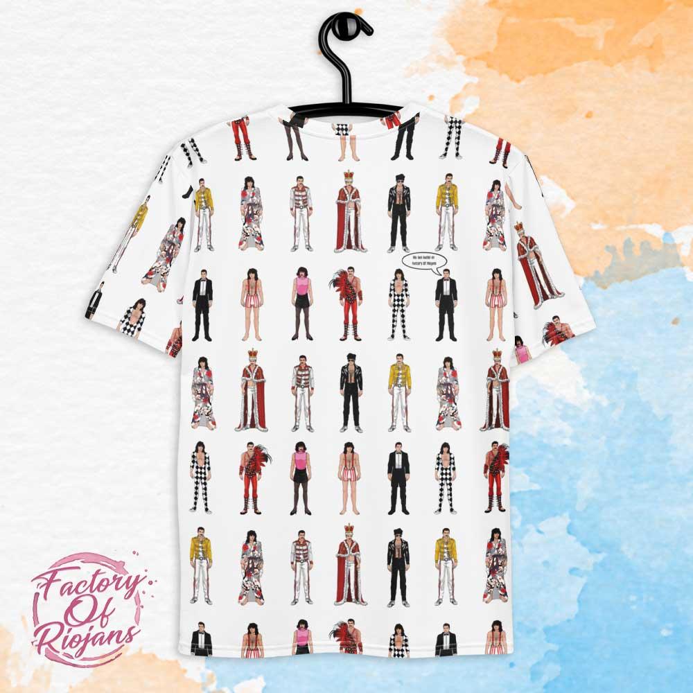 Camiseta con diseño completo de Freddie Mercury