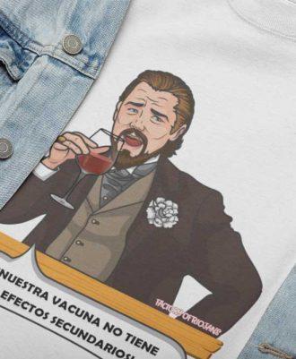 Camiseta blanca con meme de Leonardo DiCaprio
