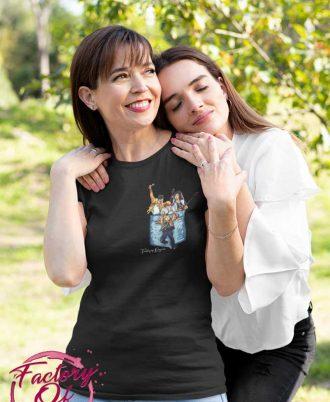 Camisetas negras de Queen para mujer