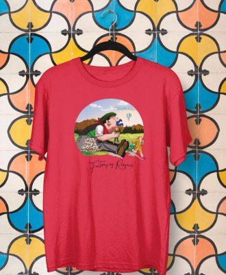 Camiseta roja unisex con Tragantúa