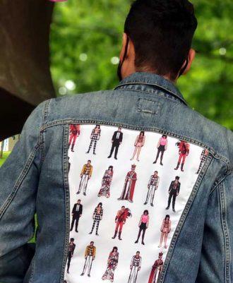 Cazadora vaqueta diseño Freddie Mercury