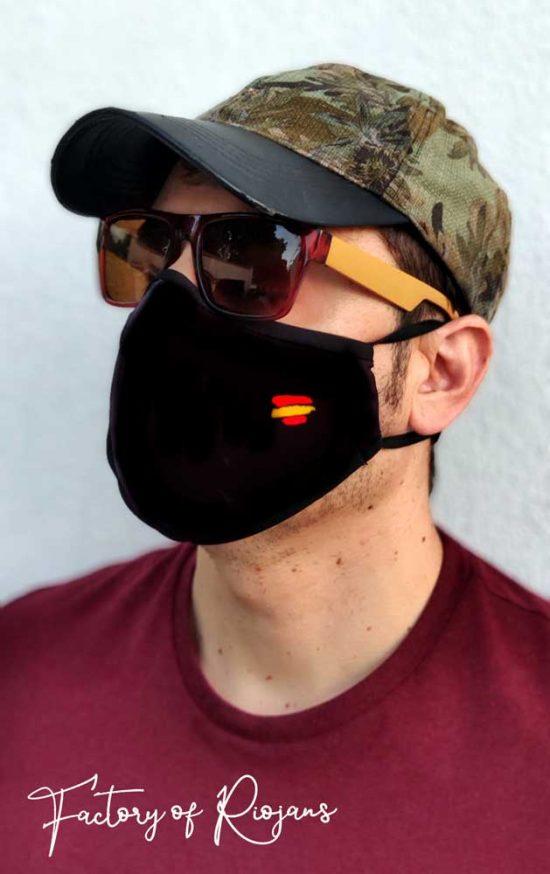 Mascarillas reutilizables con la bandera de España