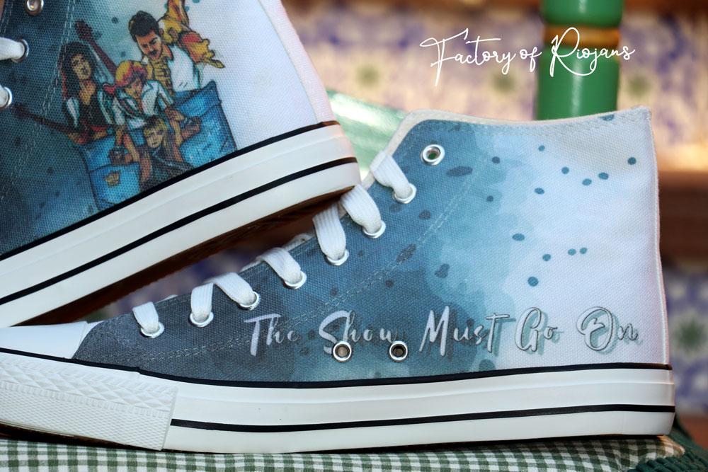 Zapatillas personalizadas de la banda de Queen