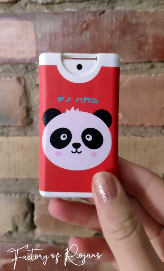 Gel hidroalcohólico recargable con Oso Panda