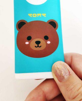 Gel hidroalcohólico con dibujo de oso