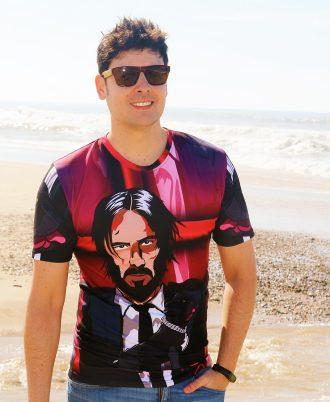 Camiseta homenaje a John Wick y Keanu Reeves