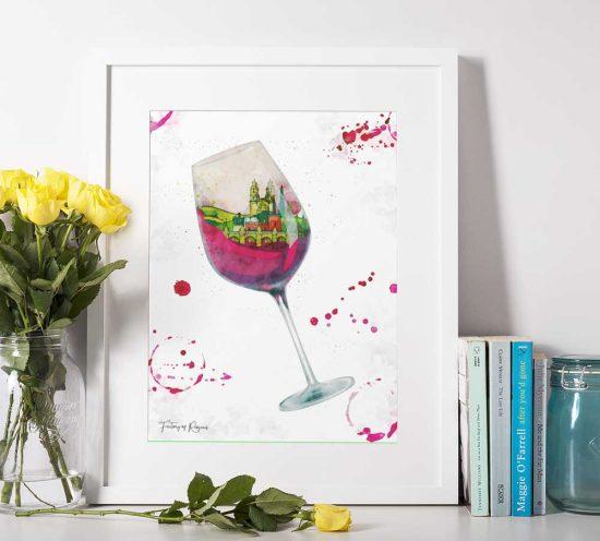 Lámina original Copa de Vino