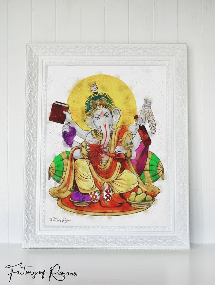Lámina decorativa Dios del Vino