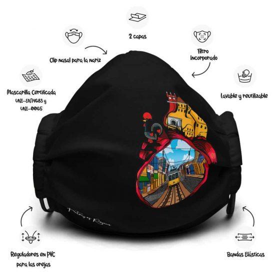 Mascarilla de diseño Corazón de Portugal