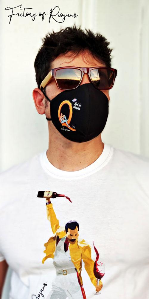 Mascarilla reutilizable hombre con Freddie Mercury