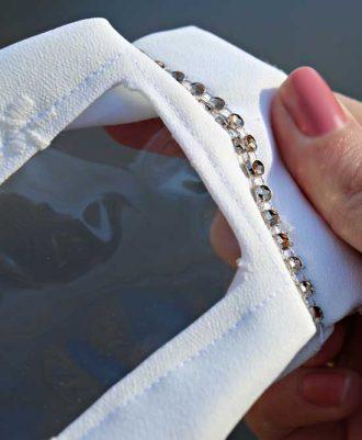 Mascarilla transparente para bodas