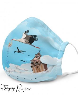 Mascarillas de diseño con pájaros