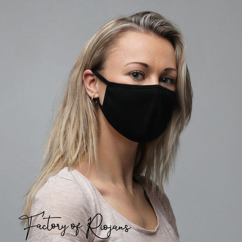 Como conjuntar mascarillas con la ropa, Mascarillas negras reutilizables que combinan con la ropa