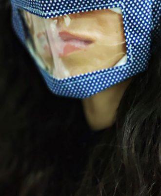 Mascarillas transparentes reutilizables para eventos de moda y trabajos de cara al público