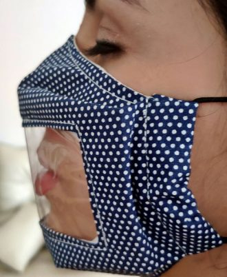 mascarillas de diseño transparentes