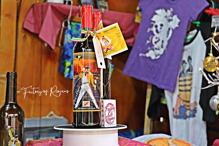 Botellas de vino personalizadas de Freddie Mercury