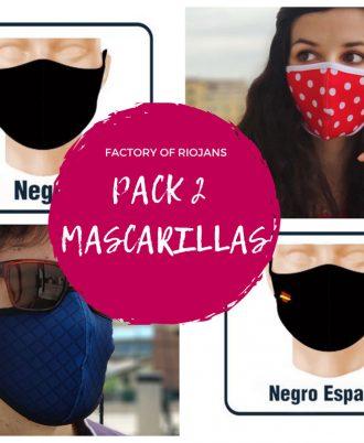 Pack de mascarillas reutilizables con envío gratis