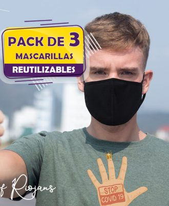 Oferta Mascarillas Reutilizables en color negro
