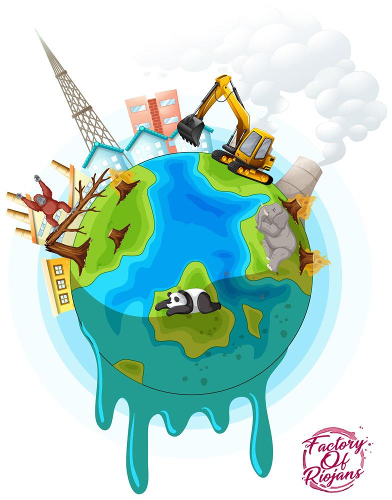 La producción de mascarillas generan polución