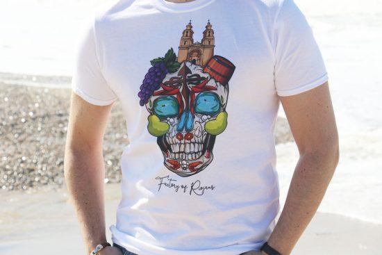 Camiseta blanca para hombre con calavera original