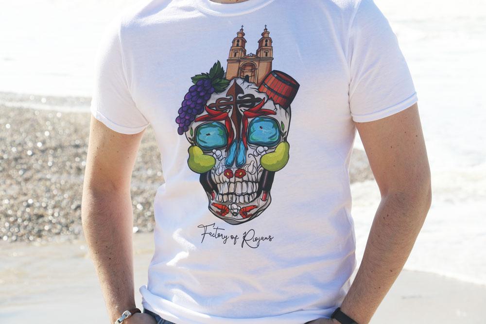 Camiseta Unisex Calavera Riojana BG