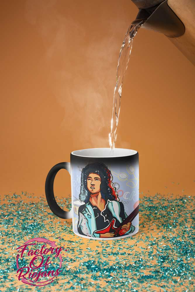 Taza mágica brillante con Brian May
