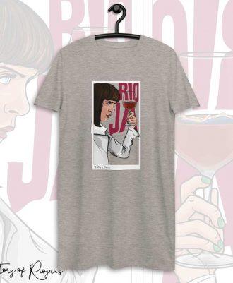 Vestido camiseta en gris de Pulp Fiction