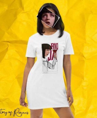 Vestido camiseta Uma Thurman en Pulp Fiction