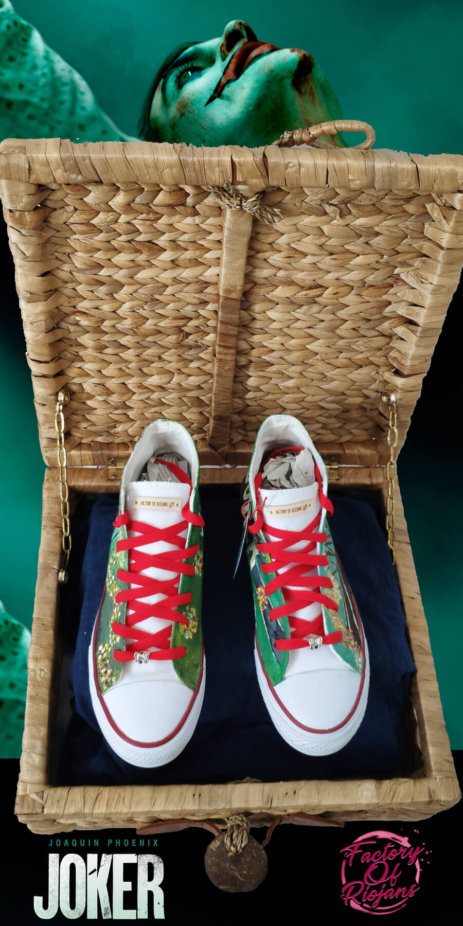 Zapatillas del Joker. Zapatillas personalizadas pintadas a mano es España (La Rioja)