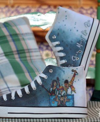 Zapatillas personalizadas de Queen