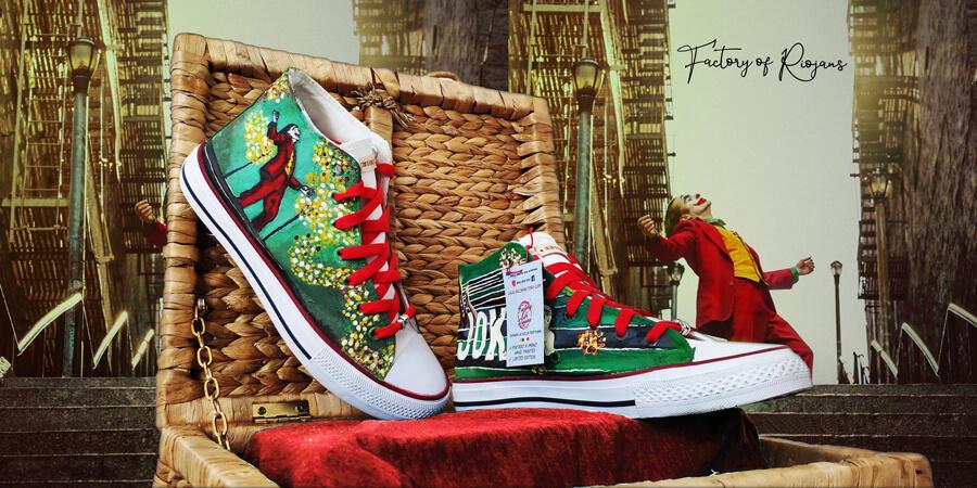 Joker hand-painted sneakers