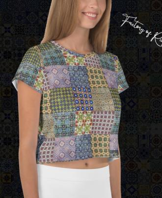 Camisetas de mujer estampadas de azulejos