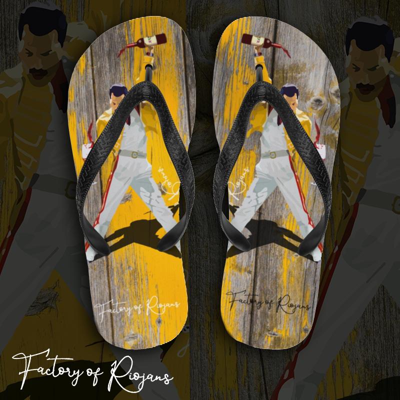 Chanclas de verano con Freddie Mercury de La Rioja