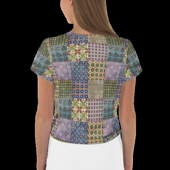 Camiseta estampada de azulejos