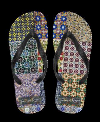 Chanclas con azulejos de Portugal