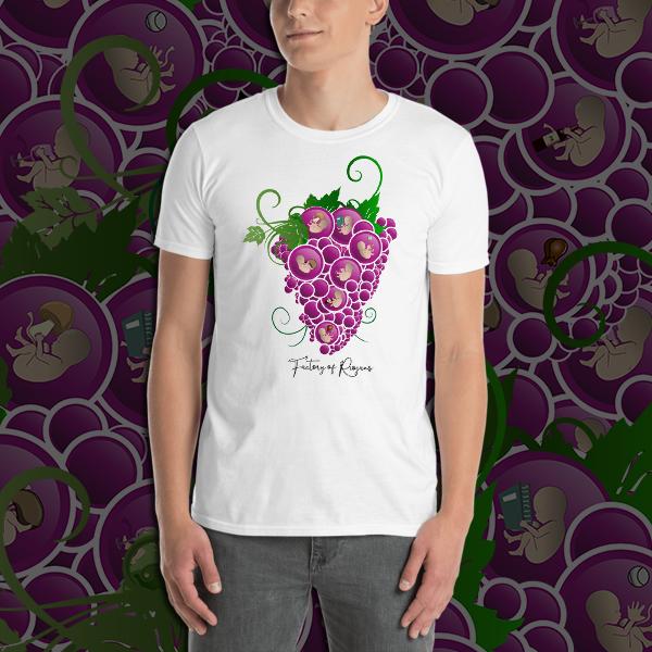 Camiseta Unisex Nacimiento Rioja. Camiseta hombre, camiseta unisex con Uvas