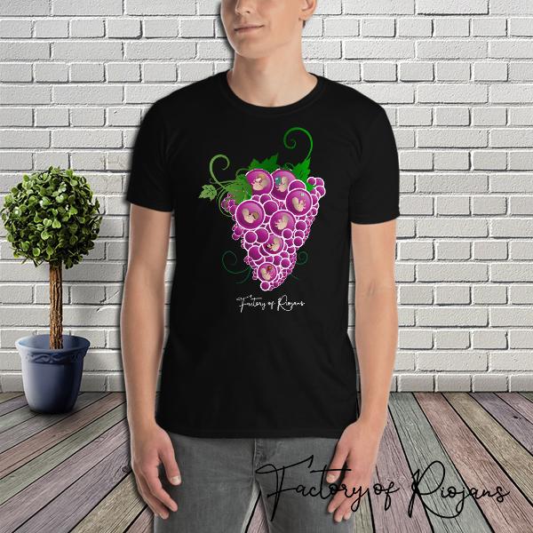 Camisetas La Rioja, camiseta hombre dark origen con corazón de uvas