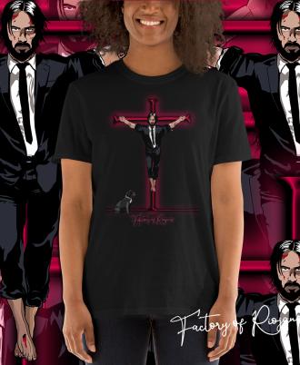 Camiseta Unisex Keanu Reeves negro