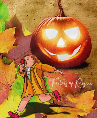 Mochila cordones Niña Halloween