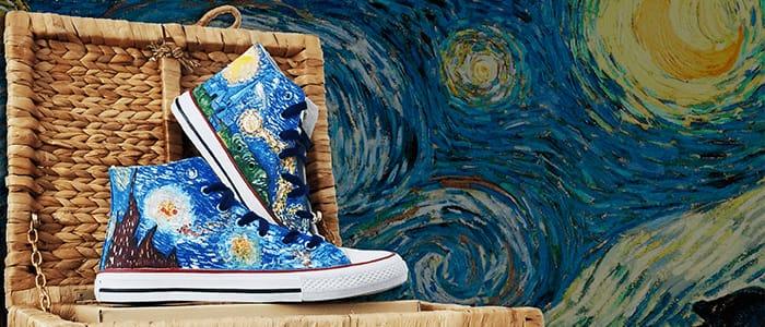 Zapatos pintados a mano Vincent van Gogh