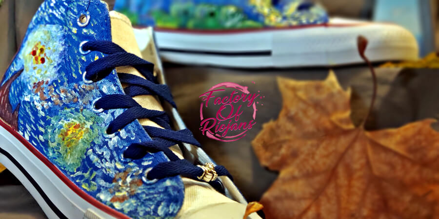 Zapatillas pintadas a mano por encargo. Edición Limitada.